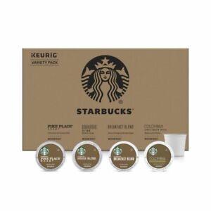 Starbucks Medium Roast K-Cup Coffee 96 Pods Variety Pack Keurig 4 Flavors