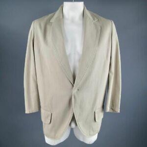Y's by YOHJI YAMAMOTO Large / JP 3 Long Khaki Cotton Sport Coat