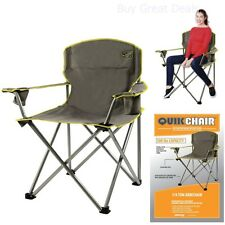 Quik Chair Heavy Duty 1/4 Ton Capacity Folding Chair with Carrying Bag Grey NEW