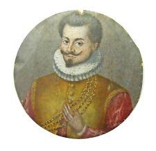 Original 16th century Renaissance portrait miniature of Gaspard de MONTMAYEUR