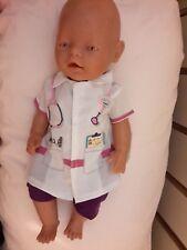 "Nurse or Doctor Uniform made by  ZAPF   Baby born 17""  doll"