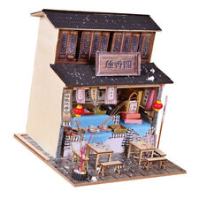 1/24 DIY Wooden Dollhouse Miniature Kits - Antique Snack Shop with Foods
