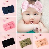 Band  Cotton Headwear Bow Knot Elastic Hairband Baby Nylon Headband Girl Turban