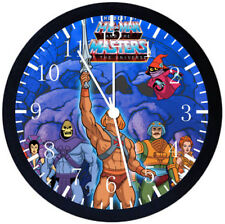 He Man Masters of the universe Black Frame Wall Clock Nice Decor or Gifts E152
