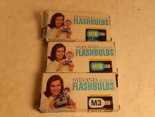 Vintage 29 Sylvania M3B Blue Dot Camera Flashbulbs