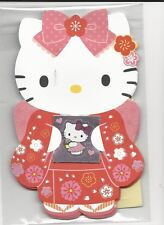 Sanrio Hello Kitty Gift Card Money Holder Set of 4 With Envelope Stickers Red