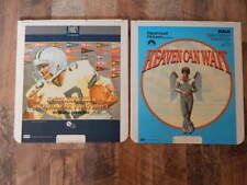Vintage CED Videodisc LOT-Heaven Can Wait, Golden Era of College Football-RARE