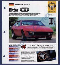 Bitter CD IMP Brochure Specs 1973-1979 Group 2, No 63