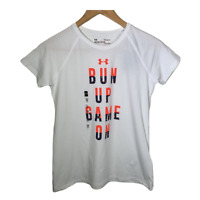 Under Armour Girls Short Sleeve Top Tee T Shirt Active Gym Run Youth Size Large
