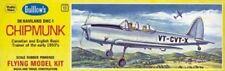 "Chipmunk, deHavilland DHC-1, 17"" #903 Guillows Balsa Wood Model Airplane Kit"