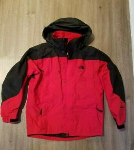The North Face 3 in 1 Men Medium  Mountain Jacket HyVent Red/Black Fleece Lining