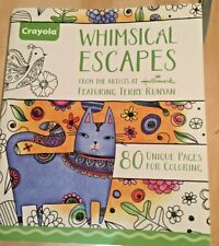 Crayola Whimsical Escapes Coloring Book 80 Frame-able Quality Pages Terry Runyan