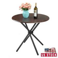 Kitchen Round Dining Table for Cafe Bar Balcony Mid-Century Vintage Living Room