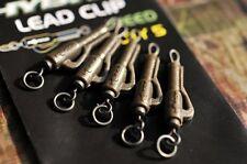 Korda Hybrid lead Clips 5 Per Pack Gravel Brown