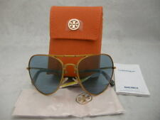 Authentic Tory Burch TY6054 Blue Frame Foldable Women's Aviator Sunglasses