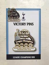 DANBURY Comme neuf Tottenham Hotspur Spurs victoire pin badge 1951 Ligue Champions