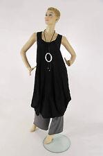 Ärmellose Damenblusen, - tops & -shirts im Tuniken-Stil aus Viskose ohne Muster