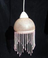 Luminaire suspension en verre et perles