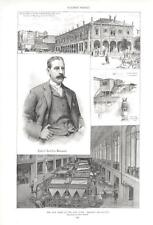 New Home of the New York Herald  -  James Gordon Bennett - See Listings  - 1893