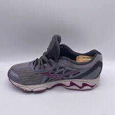 Mizuno Women's Wave Inspire 14 Running Shoe size US 9.5 Grey/purple Euro 40.5