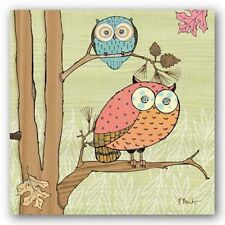 BIRD ART PRINT Pastel Owls I Paul Brent