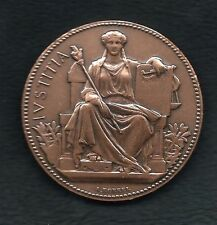 ART NOUVEAU JUSTICE / Bronze Medal by A.Borrel / H.Dubois. M24