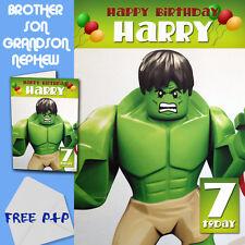 Gli Avengers-HULK-Personalizzato Compleanno Carta Figlio Fratello nipote nipote