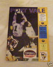 Port Vale -v- Preston North End  1992-1993