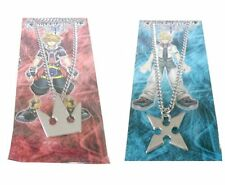 Kingdom Hearts I II Sora's Crown and Roxas's Cross Metal Necklaces Cosplay