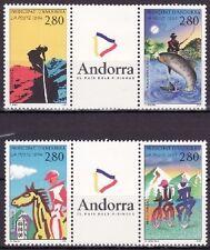 ANDORRA FRANCESA 1994 447/50 TURISMO/DEPORTES ANDORRA