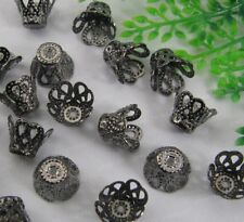 FREE SHIP 50pcs Black Color Cup Shaped Large Bead Caps 9X7MM JK0945