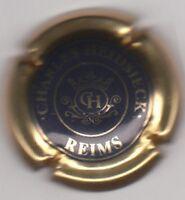 capsule de champagne CHARLES HEIDSIECK, centre bleu noir contour or