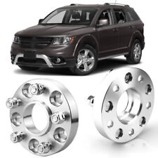 """2pcs 1"""" Wheel Spacers Centric Hub Adapters 5x5 71.6mm Stud For Dodge Journey 09+"""