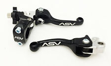 ASV F3 Unbreakable Shorty Black Brake + Clutch Levers Set CR125 CR250 CR500