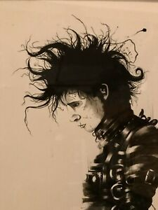 Edward Scissorhands Rare Ltd Edition Print W/custm Frame-Tim Burton, Johnny Depp