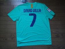 bbf721ce0 FC Barcelona  7 David Villa 100% Original Jersey Shirt XL 2010 11 Away