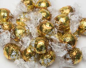 28 LARGE SIZE Lindt Lindor LARGE WHITE CHOCOLATE TRUFFLES GOLD LINDT