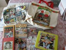 10 Mary Engelbreit Collectibles lot Books Tin Canvas Totes Fat Quarter Stickers