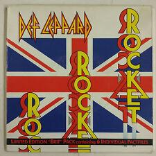 "Def Leppard Rocket Single 7"" UK 1987 estuche especial + 3 encartes"