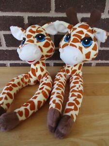 Curtain Critters Giraffe Tie Back Set Plush Head Long Arms Bur Fasten Loop Hold