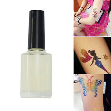 Body Art Temporary Tattoos Glitter Powders Stencils Brush Glue Tool Shimmer Kit.
