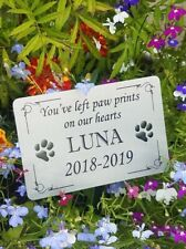 Pet Memorial Stake Grave/Tree Marker Cremation with Personalised Plaque Pet Loss