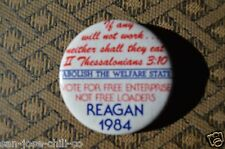 Vintage Rare Ronald Reagan 40th President Pin Back Buttons