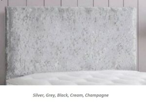 """Victoria Crushed Velvet Beautiful Bed Headboard Available in 20"""" & 26"""" Height"""