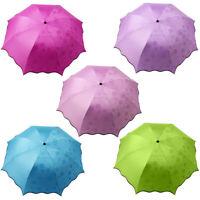 Fj- Pieghevole Anti UV Pioggia Sole Ombrello Leggero Compatto Parasole Faddi