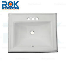 "Dugout Rectangular Shaped Drop-In Bathroom Vanity Sink 22-1/2"" X 18-1/4"" White"