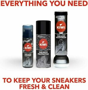 Kiwi Sneaker Protector Spray Shoe Deo Sneaker Shoe Cleaner Water Stain Step 123