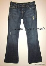 WILLIAM RAST BELLE FLARE Jeans Womens 28 x 32 Designer Denim RIPPED DISTRESSED