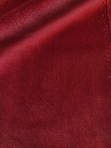 7 metres red velvet upholstery fabric
