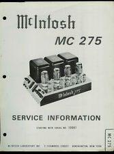 Copy* McIntosh MC 275 Stereo Power Amplifier Service Manual With EXTRA BONUS!